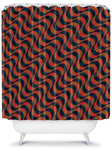 copacabana 1 | shower curtain | DENY Designs