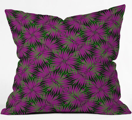 tropic 1| throw pillow | DENY Designs
