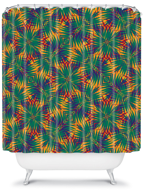 tropic 2 | shower curtain | DENY Designs