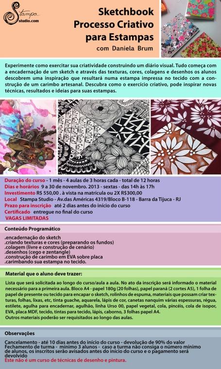 Sketchbook Processo Criativo para Estampas
