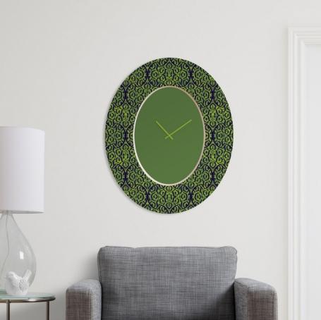 Relógio de parede elíptico