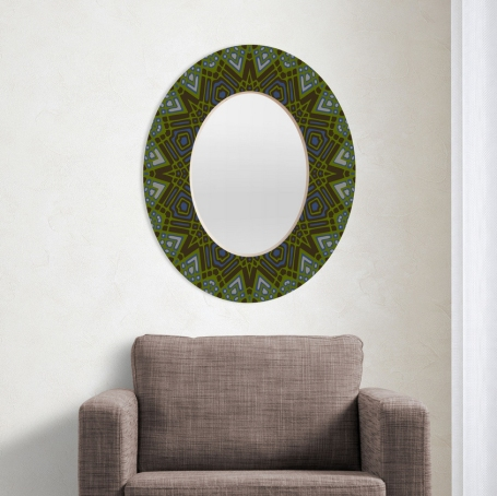 Espelho de parede elíptico