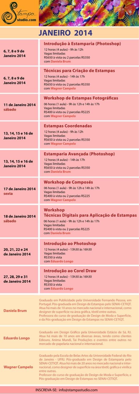 cursos de férias janeiro 2014