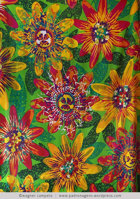 floral maracuja fundo verde