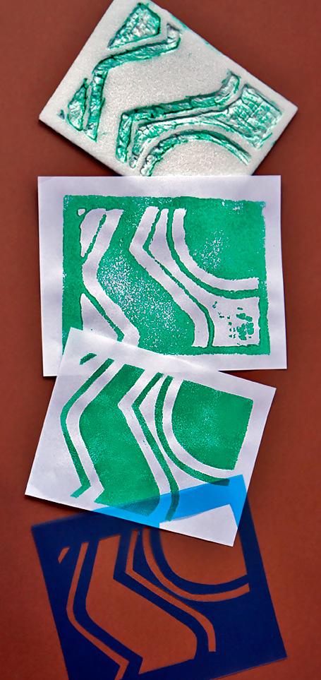 No MÓDULO 2 serão apresentadas as possibilidades criativas das técnicas de carimbo e estêncil, a serem desenvolvidas a partir das abstrações realizadas no módulo anterior.